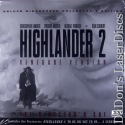 Highlander 2 Renegade Version UNCUT AC-3 THX WS Rare LaserDisc Sci-Fi *CLEARANCE*