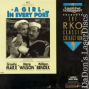 A Girl in Every Port Rare RKO LaserDisc Groucho Marx Marie Wilson Comedy
