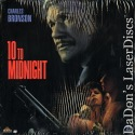 10 to Midnight Rare LaserDisc Preston Bronson Action