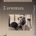 L'avventura Lavventura CAV WS LaserDisc Criterion #62 Rare Box Set Foreign