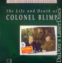 The Life and Death of Colonel Blimp Criterion #37 LaserDisc Drama