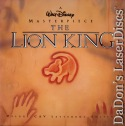 The Lion King WS AC-3 CAV THX Rare Disney LaserDisc Box Animation