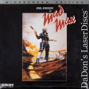 Mad Max WS Rare LaserDisc Mel Gibson Samuel Sci-Fi *CLEARANCE*