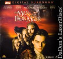The Man in the Iron Mask DTS WS NEW LaserDisc DiCaprio Drama