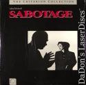 Sabotage Criterion #22 Rare LaserDisc Hitchcock Thriller