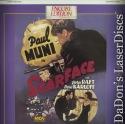 Scarface 1932 Encore Rare LaserDisc Muni Raft Karloff Gangster