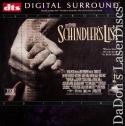 Schindler's List DTS THX WS NEW LaserDisc Rare LD Neeson