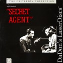 Secret Agent Criterion #23 Rare LaserDisc Young Hitchcock Spy Thriller