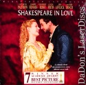 Shakespeare in Love AC-3 WS Rare LaserDisc Fiennes Rush Comedy