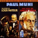 Story of Louis Pasteur / Life of Emile Zola NEW LaserDisc Drama Biography